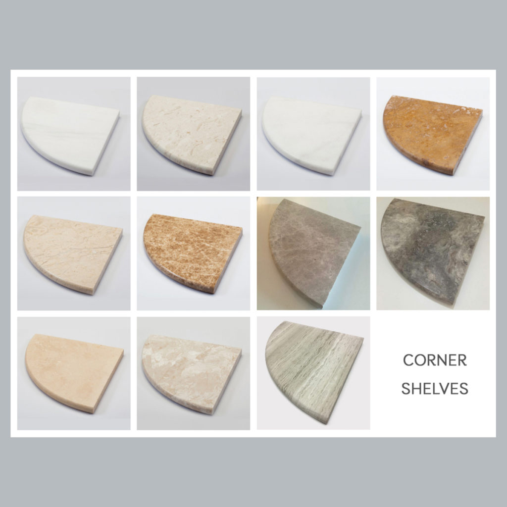 Marble Sills Corner Shelves Collection